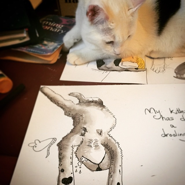 Cat in progress