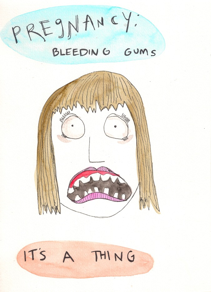 Pregnancy bleeding gums